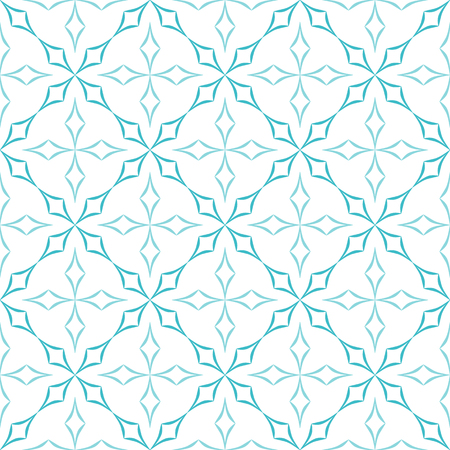 trellis: Abstract geometric pattern. Trellis of light blue curved diamonds on white background. Seamless repeat.