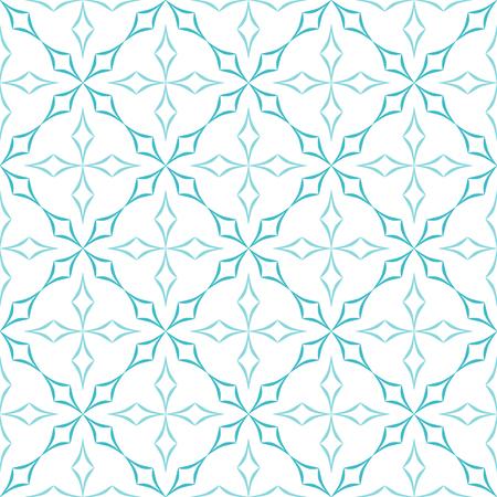 trellis: Abstract geometric pattern. Trellis of light blue curved diamonds on white background. Seamless repeat.