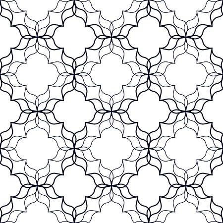 curvilinear: Abstract geometric background with wavy organic shapes. Seamless repeat pattern.