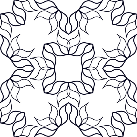 allover: Abstract geometric background with wavy organic shapes. Seamless repeat pattern.