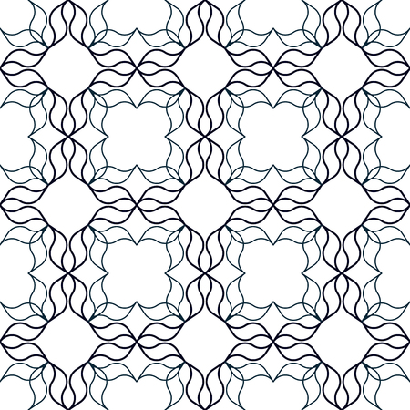 one colour: Abstract geometric background with wavy organic shapes. Seamless repeat pattern.