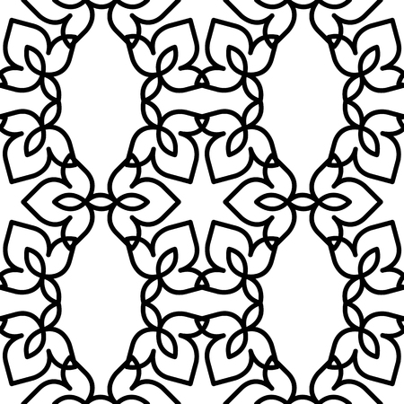 black and white moroccan pattern Stock Vector - 81950849