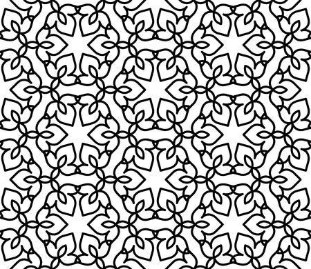 black and white moroccan pattern Stock Vector - 81950857