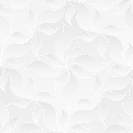 seamlessly: Neutral White Floral Texture Illustration
