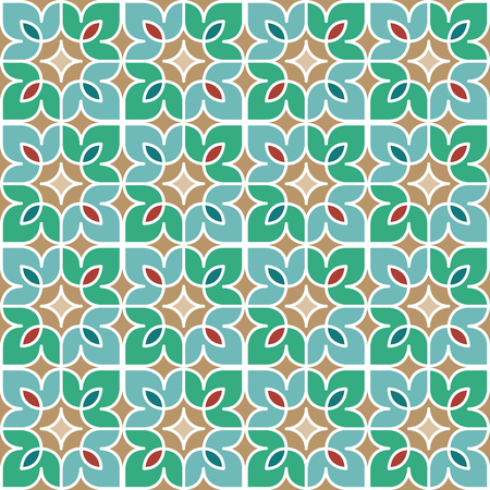 Floral Moroccan Mosaic Pattern