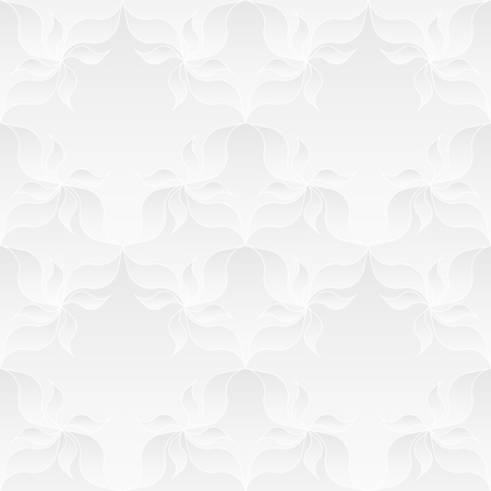 tessellate: Neutral White Floral Texture Illustration