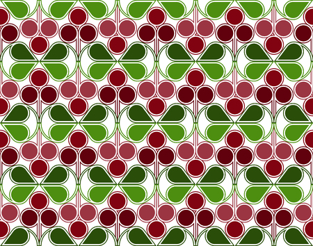 whortleberry: Cranberries Pattern Illustration