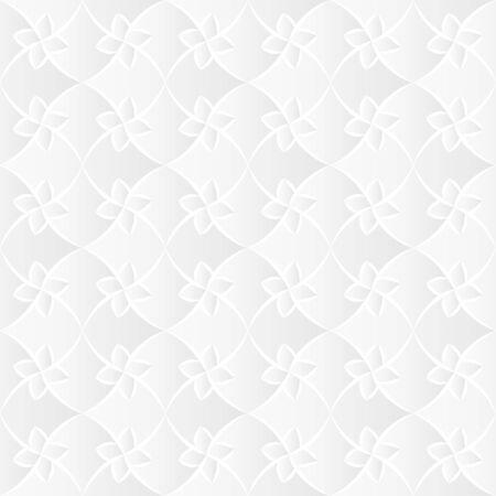 tessellate: White Flora Trellis Texture Illustration