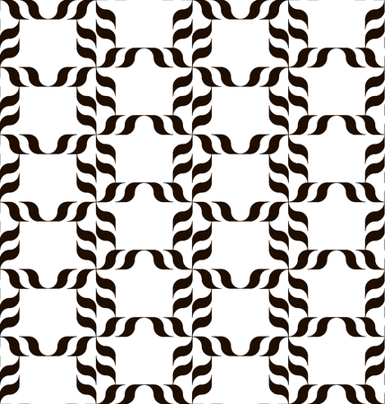 Black and white background. Regular pattern with stylized floral elements. Vector seamless repeat. Stock Vector - 95211331