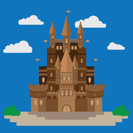 Castle in the style of flat design. It is executed in a vector and is suitable for illustrating various articles and much more.