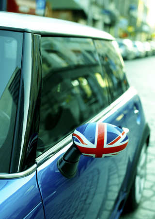 British Patriotism shown on car mirror Stock Photo - 3767541