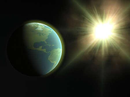 Earth & Sun Stock Photo - 3881278