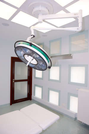 systems operations: Big surgical lamp in operation theater