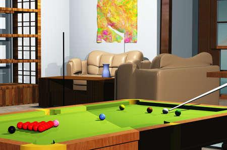 snooker room: Sala da biliardo