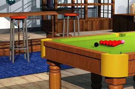 snooker room: Snooker room Archivio Fotografico