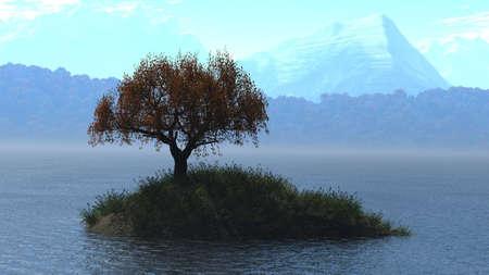 vastness: Small island with soltary tree