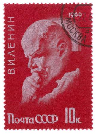 lenin: Lenin on vintage stamp