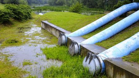 filthiness: Sewage pipes Stock Photo