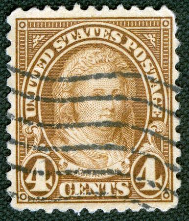 martha: Martha Washington on US vintage postmark Editorial