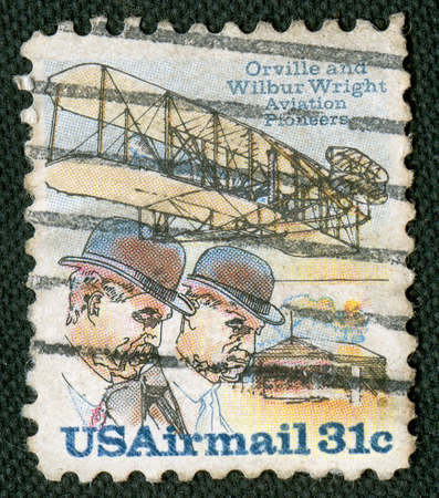 wright: Vintage aviation on US stamp