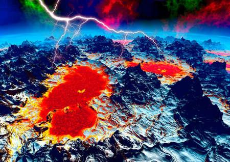 Lightning in on onlien planet Stock Photo - 5238322