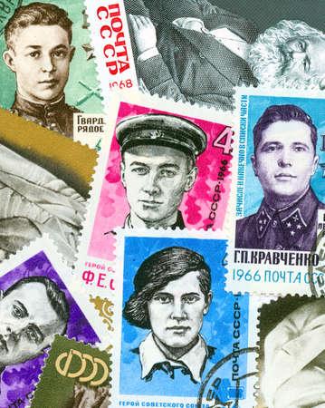 social history: Communist propaganda vintage  stamps