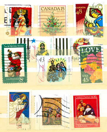 Collection of Christian postage stamps Stock Photo - 5279607