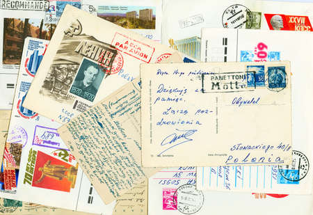 Collection of different vintage  letters with stamps Stock Photo - 5279656