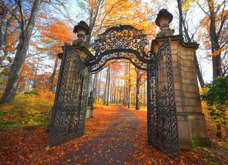 Porte dans le parc