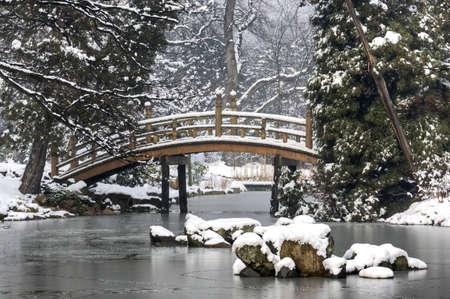Japanese Garden in Winter photo