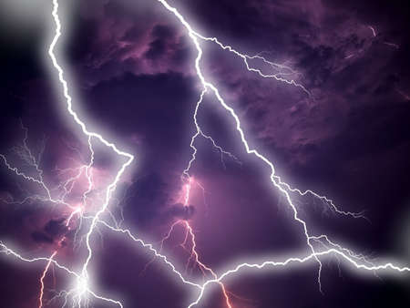 Stormy clouds with lightnings Stock Photo - 6573155