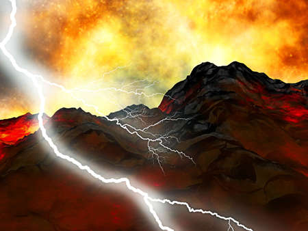 lave: Young volcano being born