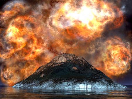 uitbarsting: Jonge vulkaan geboren
