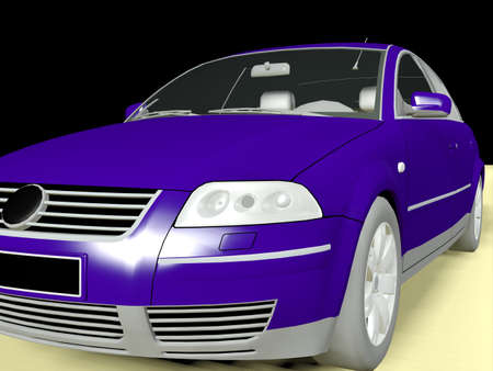 third wheel: 3d  model  of a car