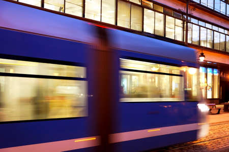 dolnoslaskie: Tram in the city Stock Photo