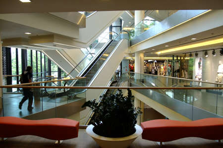 red centre: Shopping center