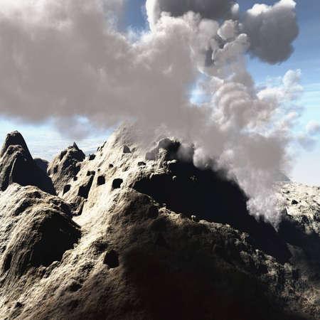 eruptive: Volcanic crater Stock Photo