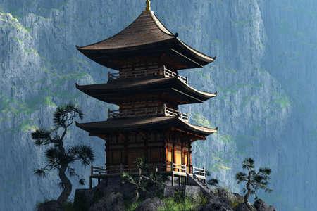 Zen Buddhist temple  - entrance photo