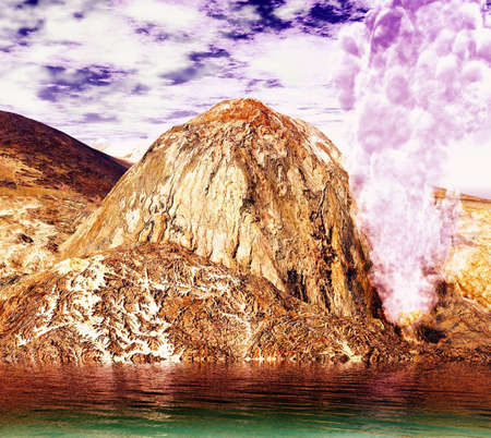 eruptive: Volcanic eruption Stock Photo