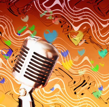 Isolated  professional microphone Stock Photo - 8325564