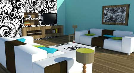 Modern interior Stock Photo - 8532665