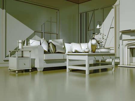 Modern interior Stock Photo - 9057444