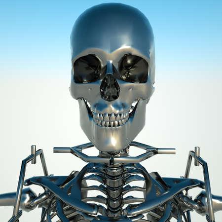death metal: Metal skeleton Stock Photo