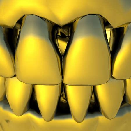 Gold teeth photo