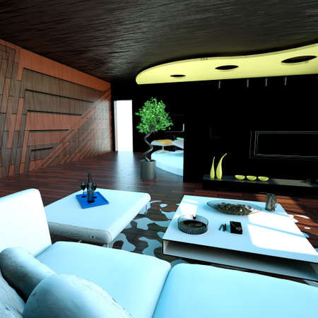 Modern interior - living room Stock Photo - 9280725