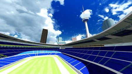 venue: Modern stadium Stock Photo