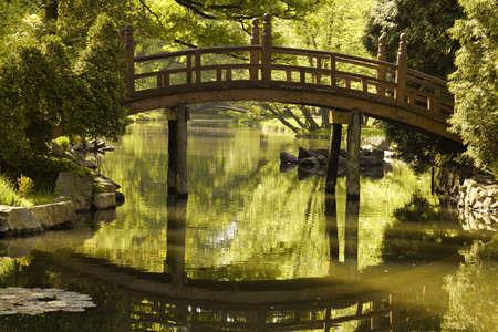 pedestrian bridge: Japanese garden