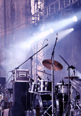 drums: Stage Stock Photo