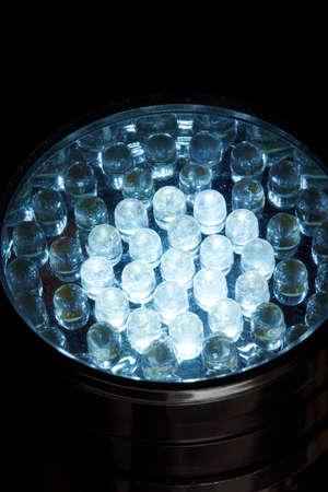 control panel lights: Diode lights Stock Photo