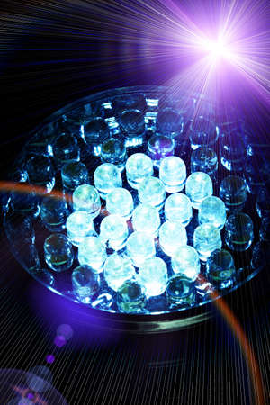 colorful light display: Diode lights Stock Photo